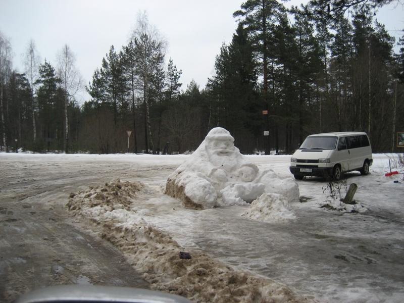 Снег в Подмосковье